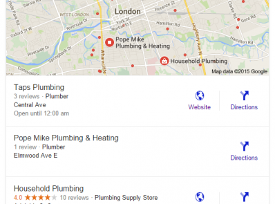 New Google Local Search Results Display