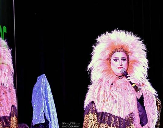Drag Queen Miss Conceptions performance at Minds for Change