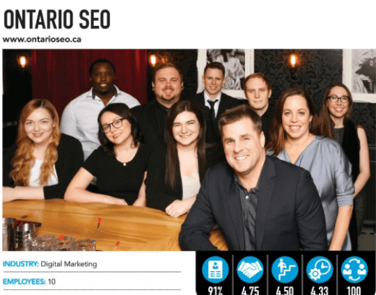 Ontario SEO Named One of London's Best Places To Work