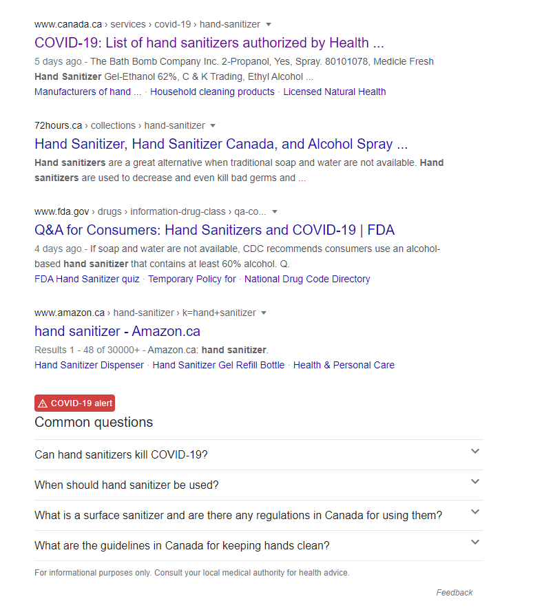 Google prioritizes authoritative sources of information