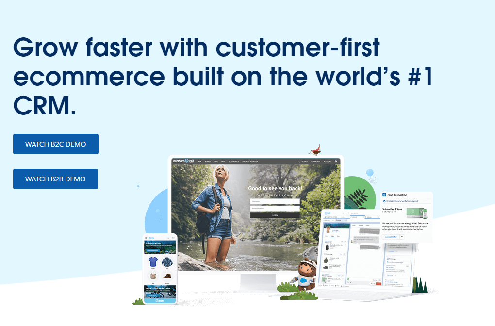 Example of a longer call-to-action from Salesforce