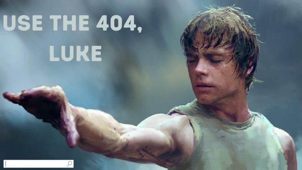 Use the custom 404