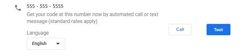Phone verification method for Google My Business