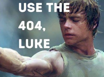 Use the custom 404 page