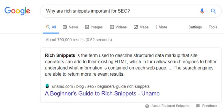 Featured Snippet on the Google Search Engine Results Page